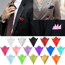 Square Plain For Wedding Dress Party Handkerchief Pocket Square Silk Hanky