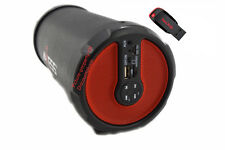 Portable Rechargeable Bluetooth Cylinder Tube Speaker + 1- 8GB STICK FLASH DRIVE