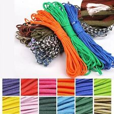 50ft 550lb Paracord Parachute Cord 7 Strand Core Lanyard Bushcraft Survival Rope