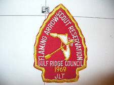 1969 Camp Flaming Arrow Reservation,JLT,pp, Gulf Ridge Council,OA 85 Seminole,FL