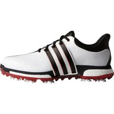 NEW MEN'SADIDAS TOUR 360 BOOST GOLF SHOES WHITE/RED F33248/F33260- PICK A SIZE