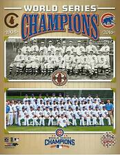Chicago Cubs Licensed 1908/2016 World Series Champions Duo  8X10 Team  Photo