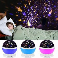 New Romantic LED Starry Night Sky Rotating Projector Lamp Starlight Cosmo Master
