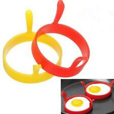 Silicone Egg Rings 4x Non Stick Baking Kitchen Pancake Handles Round Egg Rings