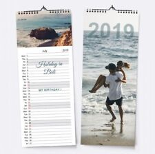 Personalised CUSTOM Kitchen CALENDAR YOUR PHOTOS Slimline Image Home Decor Gift