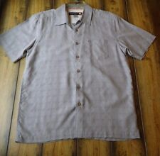 QUIKSILVER MEN'S SHORT SLEEVE BUTTON UP SHIRT SMALL LIGHT GRAY EUC PERFECT