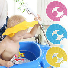 Baby Kids Shampoo Bath Bathing Wash Hair Shield Adjustable Shower Cap Hat