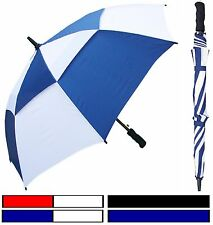 "Lot of 12 - 48"" Double-Canopy Golf Fbrglss Umbrella - RainStoppers Rain/Sun UV"