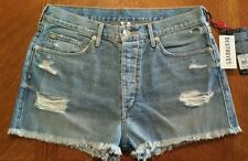 NWT $179.00 True Religion Womens Vintage Scout Boyfriend Jean Shorts MADE IN USA