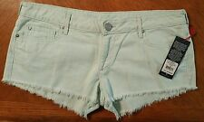 NWT $169.00 True Religion Womens Joey Cutoff Jean Shorts W/Flaps...MADE IN USA!!