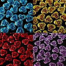 50/100/200pcs Aluminum Metal Rose Flower Spacer Beads DIY Craft Findings 8mm