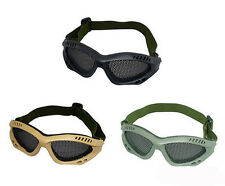 Safety Eye Protection Airsoft CS Game Metal Mesh Mask Shield Goggle Glasses #XD