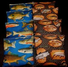 Fish CORNHOLE BEAN BAGS Bass Trout Realtree ACA Regulation Corn Toss Game Bags