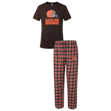 Cleveland Browns Men's Medalist Pajamas NFL Sleep 2-Piece Set Shirt Plaid Pants