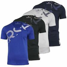 Crosshatch V Neck Graphic Short Sleeved Casual Cotton T-shirt/Top