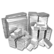LOT of 20~50~100~500Pcs SILVER JEWELRY BOXES SILVER COTTON FILLED BOXES GIFT BOX