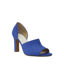 MAISON MARTIN MARGIELA BLUE SNAKE PRINT LEATHER TWO PIECE PUMP