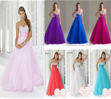 New Stock Sweetheart Prom Party Bridesmaid Evening Dress Size 6 8 10 12 14 16 18
