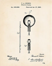 1880 Edison Bulbs Patent Cool Science Teacher Gifts Patent Wall Art Prints