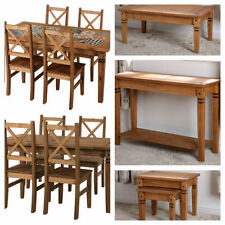 Salvador Distressed Waxed Pine Range - Dining Set Coffee Hall Nest Chairs Table