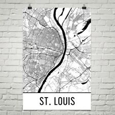 St. Louis MO Map, Art, Print, Poster, Wall Art From $29.99 - ModernMapArt