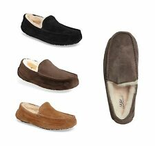 UGG Australia Men's Ascot Moccasin Slippers 5775 Black Chestnut Espresso shoes