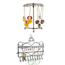 Wall Hanger or Rotating Necklace Bracelet Jewelry Display Holder Home Shop Decor