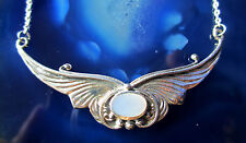 Butterfly Necklace 925 Silver Shell Mother Of Pearl white