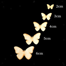 50pcs Natural Wooden Butterfly for Scrapbooking Embelishment DIY Craft Many Size