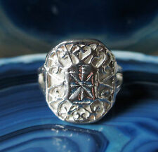 Ring Silver Ring Coat of arms? with Flowers umrankt Sterling Silver 925