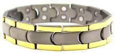 Titanium Civility Magnetic Therapy Bracelet - two 5,000 gauss magnets per link