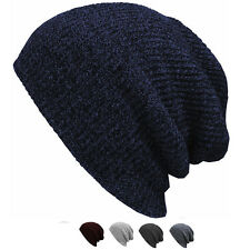 Women Men Winter Warm beanies Cap Unisex Knit Ski Crochet Slouchy Hat Hot