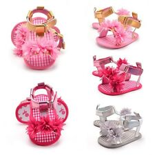 Summer 0-18M Baby Kids Girls Floral Sandals Soft Sole Non-slip Crib Shoes Lovely