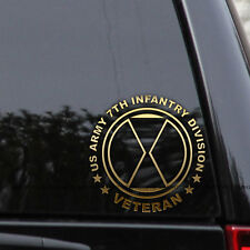 US Army 7th Infantry Division Decal Sticker Veteran First Car Window Laptop
