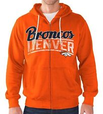 Denver Broncos Hoodie Men's NFL Swingman Full Zip Sweatshirt Hooded Football
