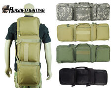 "33"" Tactical Heavy Duty Rifle Gun AR15 Bag Backpack with Pistol Storage"