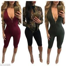 Sexy Women Sleeveless Bodycon Bandage Jumpsuit Catsuit Playsuit Rompers Clubwear