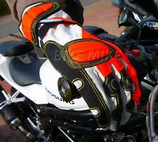 Gloves Motorcycle Gloves Summer glove Leather NEON RED ROT Gloves