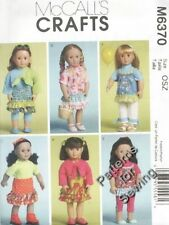 "Pattern McCalls Doll Clothes fits American Girl 18"" inch Dress Bolero Capris NEW"