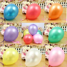 "10"" INCH Pearl Balloons 50X Latex Helium Air Party Weddings Balloons Celebration"