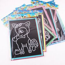 Children Colorful Scratch Art Paper Painting Paper Two-in-one With Drawing Stick