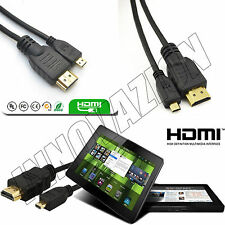 Premium Micro Hdmi to Hdmi Cable to Connect Amazon Kindle Fire HD to TV LCD HDTV