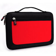 Hot Red w/ Front Package Hard Shell Briefcase Handle Case Bag for Android Tablet