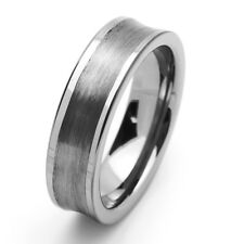 Men 7MM Comfort Fit Tungsten Carbide Wedding Band Concaved Ring / GIFT BOX