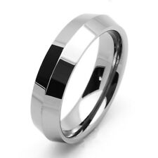 Men 6MM Comfort Fit Tungsten Carbide Wedding Band Nife Cut Edges Ring / GIFT BOX