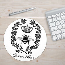 """Queen Bee Desk Accessory Mouse Pad 8"""" Round or 9.25"""" x 7.75"""" Rectangular"""