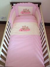 Cloud Bear bedding Set for Cot (Pink) - Made in EU