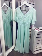 ASOS WEDDING Lace And Pleat Midi Dress RRP £65 (AS18/3)