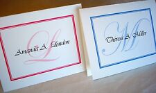 24 Personalized Custom Note Cards & Envelopes Stationery, Blank Inside Thank You