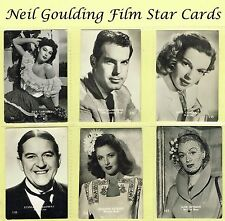 Belgian Chewing Gum - Film Stars 1950s Large B&W Numbered Cards (REF: BEL6)